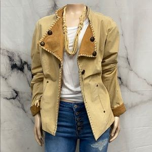 Eclectic western style suede jacket